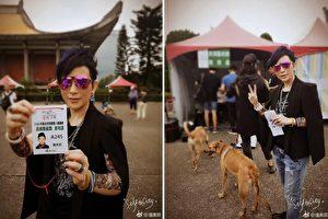 歌手潘美辰5月时应考街头艺人。(潘美辰微博/大纪元合成)