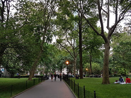 麦迪逊广场公园一景(戴安/大纪元)