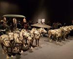 大都會博物館特展「帝國時代--秦漢文明」圖為展廳現場(作者提供)