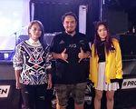 三位歌手合影,左一起:阿爆、玛斯卡Matzka和DJ RAYRAY (夏松/大纪元)