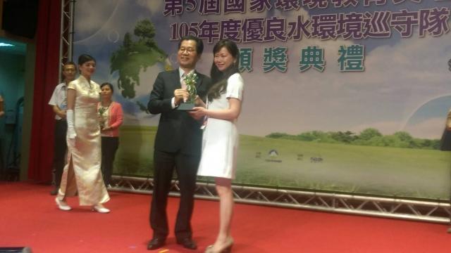 第五屆國家環境教育獎個人組優等:李蘭欣。(宜蘭環保局提供)
