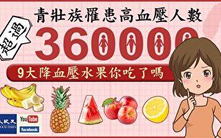 「青壯族」得高血壓竟有36萬人!降血壓水果你吃了嗎?
