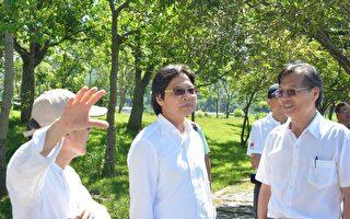 内政部长叶俊荣30日访视国家级重要湿地大坡池。(内政部/提供)