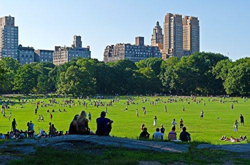 纽约中央公园大草坪。(hnelson57/CC/Pixabay)