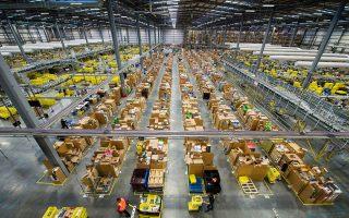 傳聞雅馬遜即將在史坦頓島租用一個100萬平方英尺的倉庫。 (Jeff Spicer/Getty Images)