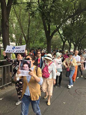 自6月12日開始,連續4日,來自大陸各地的E租寶受害人齊聚北京維權。(受訪者提供)