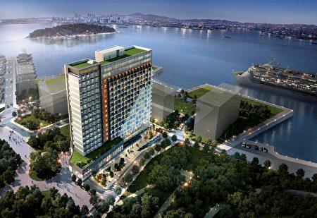 RGB天空酒店模拟外景。(RGB集团提供)