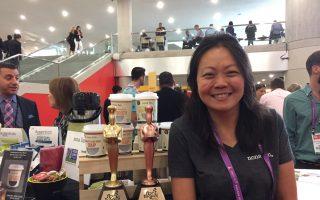 獲得2017索菲獎銅獎的加州Nona Lim亞洲食品創始人林艷虹。 (施萍/大紀元)