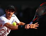 排名世界第一的穆雷3比1逆轉錦織圭,晉級法網四強。 (Clive Brunskill/Getty Images)