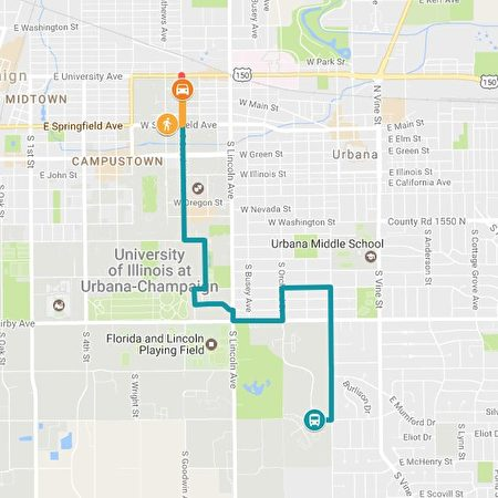當地警方提供的章瑩穎當天的行程路線。藍色部分表示乘坐12路車,橙色部分可能十下車後步行至失蹤前最後出現的地點(推特)