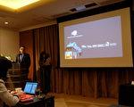 美國房地產控股公司Realogy集團的新任首席執行官John・Peyton6月14日,在日本東京召開演講會,就科威國際不動產公司進入日本市場一事進行說明。(野上浩史/大紀元)