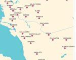 东湾地区的城市地图。(东湾地产经纪Diana黄提供)