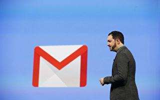 谷歌正在給谷歌郵件(Gmail)增加一些新的安全功能。圖為谷歌設計副總裁 Matias Durante於2014年6月在谷歌I/O 開發者大會上介紹Gmail。(Stephen Lam/Getty Images)