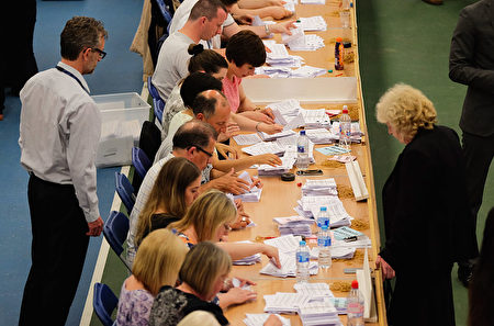 SUNDERLAND, UNITED KINGDOM - JUNE 23: The North East region European Union referendum count takes place on June 23, 2016 in Sunderland, United Kingdom. The United Kingdom has gone to the polls to decide whether or not the country wishes to remain within the European Union. After a hard fought campaign from both REMAIN and LEAVE the vote is too close to call. A result on the referendum is expected on Friday morning. (Photo by Ian Forsyth/Getty Images)