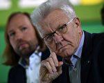 圖為巴符州綠黨籍州長Kretschmann。 (PATRIK STOLLARZ/AFP/Getty Images)