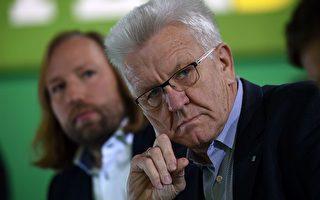 图为巴符州绿党籍州长Kretschmann。 (PATRIK STOLLARZ/AFP/Getty Images)