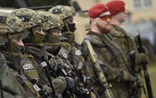 今年3月德國士兵在進行反恐演習。(Philipp Guelland/Getty Images)