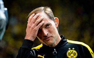 图为前多特蒙德教练图赫尔。    (SASCHA SCHUERMANN/AFP/Getty Images)