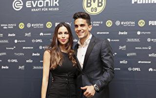 图为在多特蒙德效力的Marc Bartra与女友。(Maja Hitij/Bongarts/Getty Images)