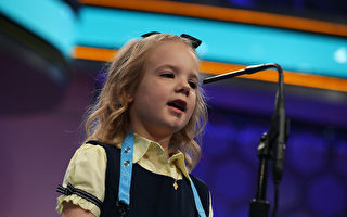 美國年度拚字大賽週三在華府登場,最受矚目的是史上最年輕參賽者,俄克拉荷馬州剛滿6歲的小女孩伊迪絲.富勒(Edith Fuller)(如圖)。(Alex Wong/Getty Images)