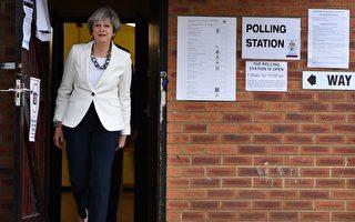 英國首相梅今年4月決定提前大選時或有勝算把握,然而,出乎意外的是,她很有可能輸掉這場豪賭,最終被迫下台。(BEN STANSALL/AFP/Getty Images)