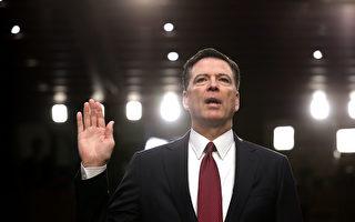 前FBI局長科米週四(6月8日)在參議院情報委員會的作證可能令川普法律團隊長舒一口氣,因為他沒有指控川普妨礙司法。但是他的一些尖銳言論將讓政治爭議和通俄門調查繼續發酵。(Chip Somodevilla/Getty Images)