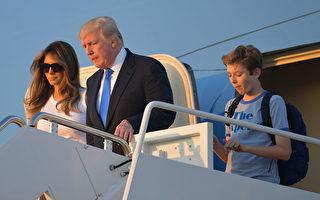 6月11日,美国总统川普一家终于在白宫团圆了。 (Chris Kleponis-Pool/Getty Images)