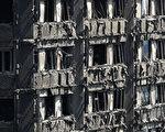 圖為被燒焦的大樓(Dan Kitwood/Getty Images) (Dan Kitwood/Getty Images)