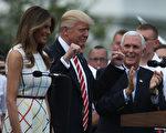 6月22日,川普和梅拉尼婭參加白宮國會野餐會。(Photo by Alex Wong/Getty Images)