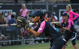 6月13日,第九屆美國國會女議員壘球賽在華盛頓特區開打。圖為猶他州國會眾議員拉夫(Mia Love)。(林樂予/大紀元)