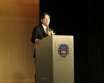 由大洛杉矶台湾会馆主办,台南市长赖清德6月22日受邀于洛杉矶演讲。(袁玫/大纪元)
