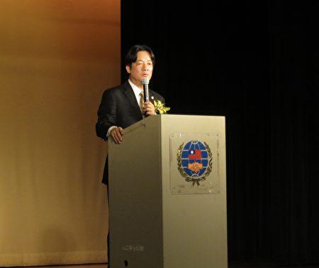 由大洛杉磯臺灣會館主辦,臺南市長賴清德6月22日受邀於洛杉磯演講。(袁玫/大紀元)
