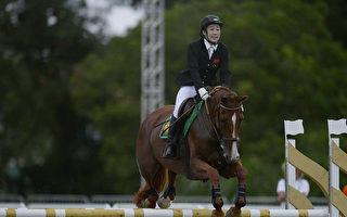 中國選手陳倩在里約奧運會現代五項馬術比賽中。(Alexandre Loureiro/Getty Images)