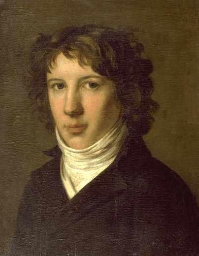 法国大革命激进分子之一安东万‧路易‧德‧圣鞠斯特(Louis Antoine de Saint-Just,1767—1794)肖像,1793年绘制。(公有领域)