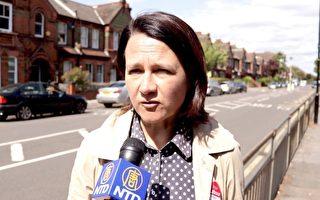 英國工黨影子外交部長Catherine West 就工黨在本次大選中的政治宣言接受了採訪。(新唐人視頻截圖)