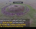 在中國西北一個遙遠的角落,最近出土了一個3000年歷史的太陽祭壇,為研究該地區數千年前的部族文化和宗教信仰提供了線索。(視頻截圖)