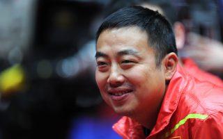 6月20日,劉國梁(圖)卸任中國乒乓球隊總教練,國乒集體發聲。 (AFP)