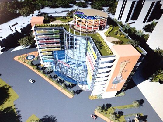 儿童医院规划图。(新竹马偕医院提供)