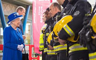 组图:伦敦大火30死76失踪 女王携威廉访灾民
