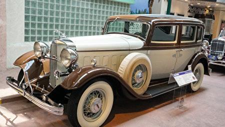 雷諾的「國家汽車博物館」中的藏車-1932年款林肯Lincoln老爺車。(攝影:李旭生/大紀元)