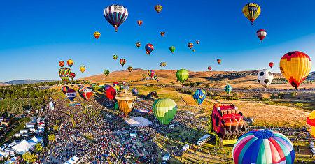 雷諾每年都舉行全球最大的熱氣球比賽。(圖片由Abbi Agency提供)