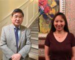 现任市议员顾雅明(左)和挑战者谭夕娄(Alison Tan,右)。 (大纪元资料图片)