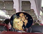 """高空飞行,飞机突然坠落,氧气面罩也弹出,英国女乘客认为自己活不成了,给丈夫留遗言:""""我爱你。""""(视频截图/大纪元合成)"""