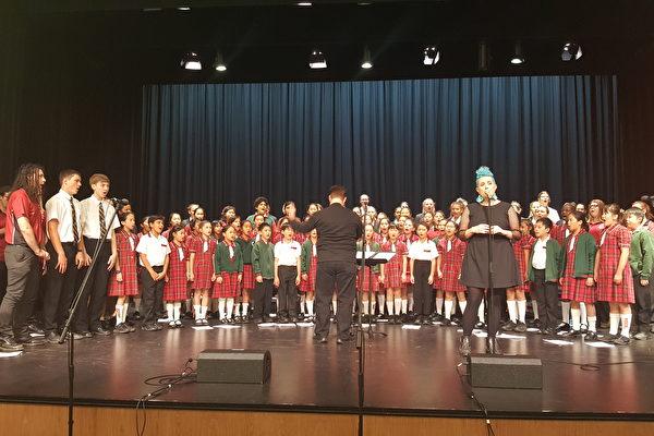 昆士蘭音樂節2017「你能發聲」部份演員合唱綵排。(徐凱文/大紀元)