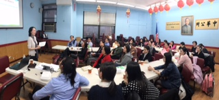 紐約華僑學校聘用專業老師並大力加強師資培訓。(紐約華僑學校提供)