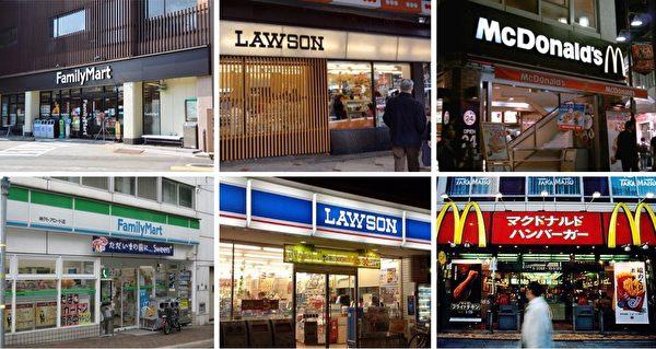上排为京都市的店家招牌,下为店家原本的招牌样式。(大纪元合成)