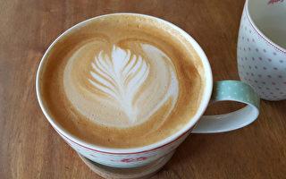 拿鐵咖啡。(李賢珍/大紀元)
