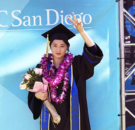 高智晟女儿从加州大学经济系毕业