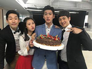 《真情之家》主要演员(左起)梅贤治、阳咏存、孙沁岳、张毅敏。(三立、东森提供)