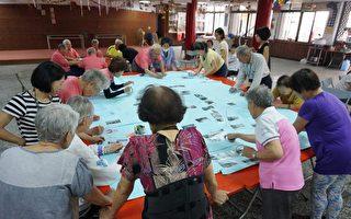 屏东县长治乡潭头社区千岁团手绘出在地文化历史背景的故事。(潭头社区发展协会提供)